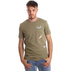 Textil Muži Trička s krátkým rukávem Antony Morato MMKS01515 FA100144 Zelený