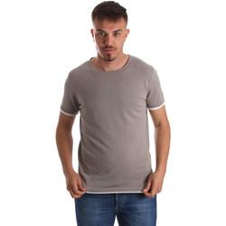 Textil Muži Trička s krátkým rukávem Gaudi 911FU53007 Šedá