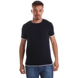 Textil Muži Trička s krátkým rukávem Gaudi 911FU53007 Modrý