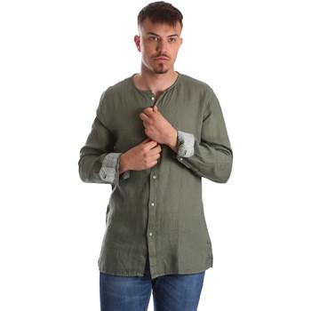 Textil Muži Košile s dlouhymi rukávy Gaudi 911BU45002 Zelený