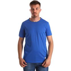 Textil Muži Trička s krátkým rukávem Gaudi 911BU64023 Modrý