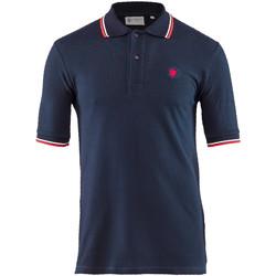 Textil Muži Polo s krátkými rukávy Lumberjack CM45940 004 506 Modrý