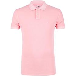 Textil Muži Polo s krátkými rukávy Wrangler W7C15K Růžový