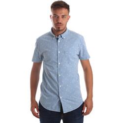 Textil Muži Košile s krátkými rukávy Wrangler W59446 Modrý