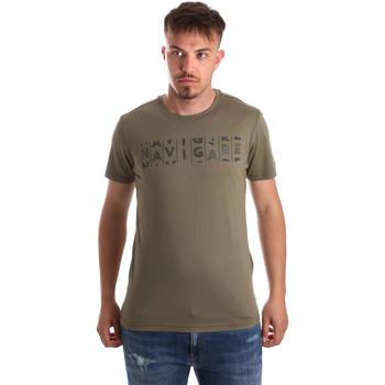Textil Muži Trička s krátkým rukávem Navigare NV31081 Zelený