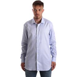 Textil Muži Košile s dlouhymi rukávy Navigare NV90005 FR Modrý
