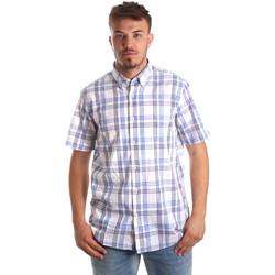 Textil Muži Košile s krátkými rukávy Navigare NV91057 BD Modrý