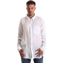Textil Muži Košile s dlouhymi rukávy Navigare NV92067 BD Bílý