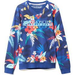 Textil Muži Mikiny Napapijri N0YIF8 Modrý