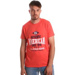 Textil Muži Trička s krátkým rukávem U.S Polo Assn. 52231 51331 Oranžový