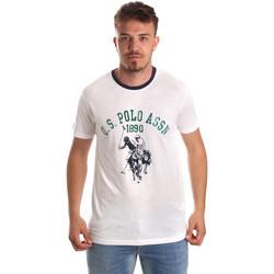Textil Muži Trička s krátkým rukávem U.S Polo Assn. 52465 51334 Bílý