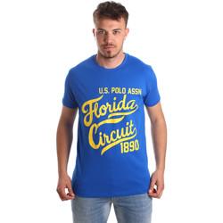 Textil Muži Trička s krátkým rukávem U.S Polo Assn. 49351 51340 Modrý