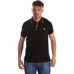 Textil Muži Polo s krátkými rukávy U.S Polo Assn. 50336 51263 Černá