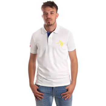 Textil Muži Polo s krátkými rukávy U.S Polo Assn. 50336 51267 Bílý