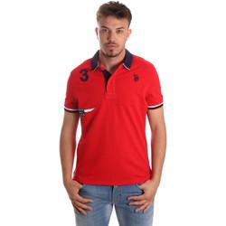 Textil Muži Polo s krátkými rukávy U.S Polo Assn. 41029 51252 Červené
