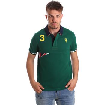 Textil Muži Polo s krátkými rukávy U.S Polo Assn. 41029 51252 Zelený