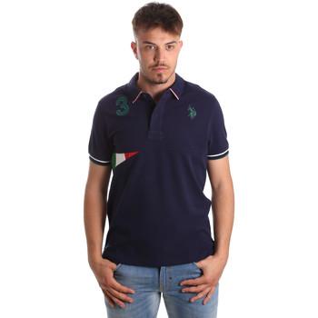 Textil Muži Polo s krátkými rukávy U.S Polo Assn. 41029 51252 Modrý
