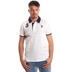 Textil Muži Polo s krátkými rukávy U.S Polo Assn. 41029 51252 Bílý