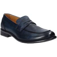 Boty Muži Mokasíny Exton 3106 Modrý