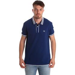 Textil Muži Polo s krátkými rukávy NeroGiardini P972210U Modrý