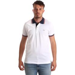 Textil Muži Polo s krátkými rukávy Key Up 2Q62G 0001 Bílý