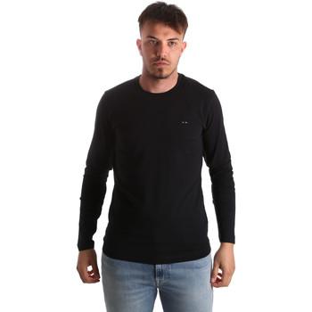 Textil Muži Trička s dlouhými rukávy Key Up 2E96B 0001 Černá