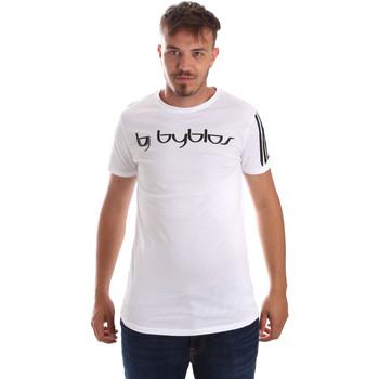 Textil Muži Trička s krátkým rukávem Byblos Blu 2MT0016 TE0046 Bílý