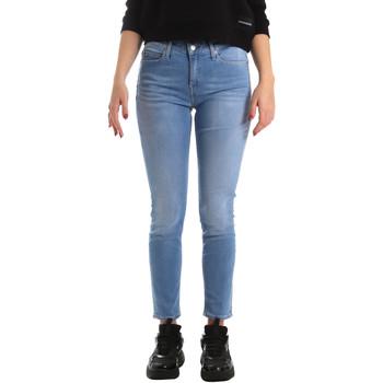 Textil Ženy Rifle skinny Calvin Klein Jeans J20J211006 Modrý