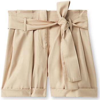 Textil Ženy Kraťasy / Bermudy Liu Jo F19231T2311 Béžový