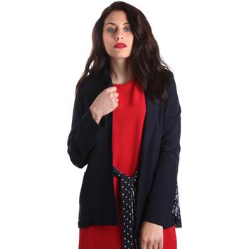 Textil Ženy Saka / Blejzry Fracomina FR19SP006 Modrý