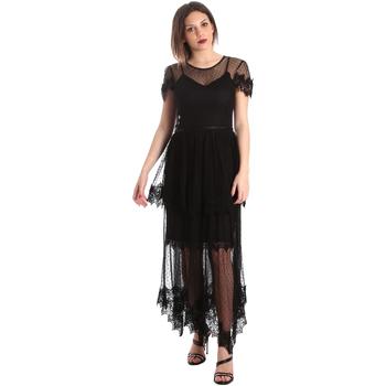 Textil Ženy Společenské šaty Fracomina FR19SP364 Černá