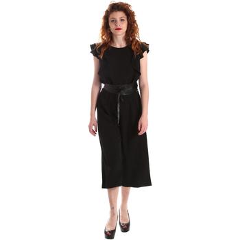 Textil Ženy Overaly / Kalhoty s laclem Fracomina FR19SP662 Černá