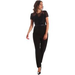 Textil Ženy Overaly / Kalhoty s laclem Fracomina FR19SP673 Černá