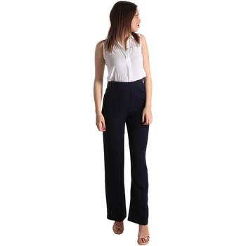 Textil Ženy Overaly / Kalhoty s laclem Fracomina FR19SP008 Modrý