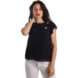 Textil Ženy Halenky / Blůzy Fracomina FR19SP567 Modrý