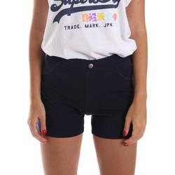 Textil Ženy Kraťasy / Bermudy Key Up 5L79G 0001 Modrý