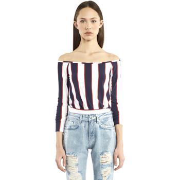 Textil Ženy Trička s dlouhými rukávy Denny Rose 911DD60016 Modrý