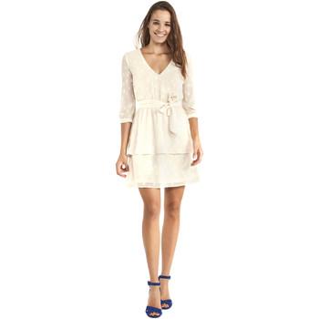 Textil Ženy Krátké šaty Gaudi 911BD15005 Béžový