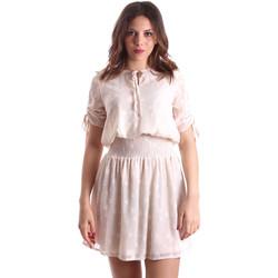 Textil Ženy Krátké šaty Gaudi 911BD15006 Béžový