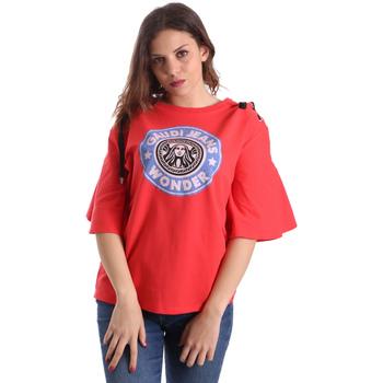 Textil Ženy Trička s krátkým rukávem Gaudi 911BD64037 Červené