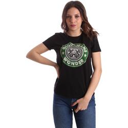 Textil Ženy Trička s krátkým rukávem Gaudi 911BD64038 Černá