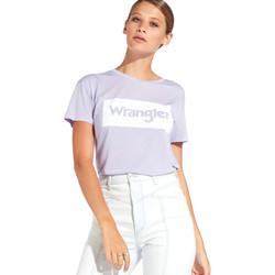Textil Ženy Trička s krátkým rukávem Wrangler W7016D Fialový