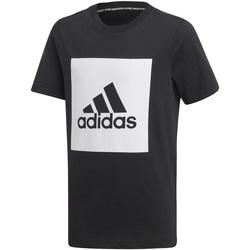 Textil Děti Trička s krátkým rukávem adidas Originals DX2478 Černá