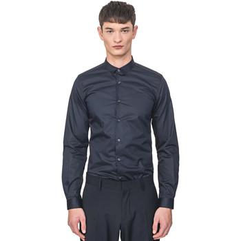 Textil Muži Košile s dlouhymi rukávy Antony Morato MMSL00596 FA400072 Modrý