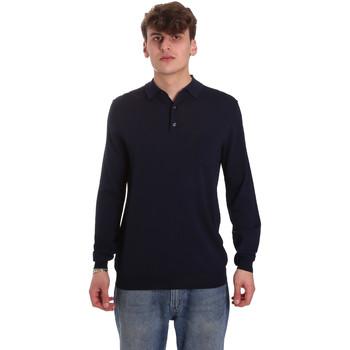 Textil Muži Polo s dlouhými rukávy Antony Morato MMSW01065 YA500057 Modrý