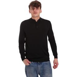Textil Muži Polo s dlouhými rukávy Antony Morato MMSW01065 YA500057 Černá