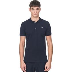 Textil Muži Polo s krátkými rukávy Antony Morato MMKS01738 FA100083 Modrý