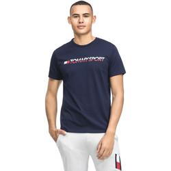 Textil Muži Trička s krátkým rukávem Tommy Hilfiger S20S200051 Modrý
