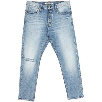 Textil Muži Rifle rovné Calvin Klein Jeans J30J312380 Modrý