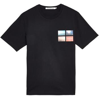 Textil Muži Trička s krátkým rukávem Calvin Klein Jeans J30J312834 Černá